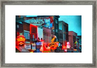 Looking Down Broadway In Nashville Tennessee Framed Print by Dan Sproul