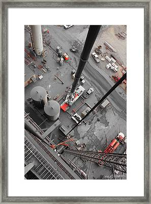 Looking Down Framed Print by Chris Martin