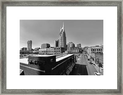 Looking Down On Nashville Framed Print by Dan Sproul
