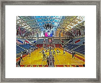 Looking Down The Length Of The Court Framed Print by Tom Gari Gallery-Three-Photography