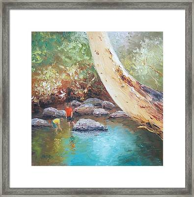 Looking For Tad Poles Framed Print by Jan Matson