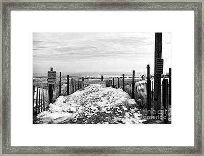 Looking For Treasures Mono Framed Print by John Rizzuto