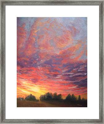 Looking Forward To Tomorrow Framed Print by Robie Benve