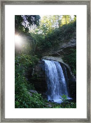 Looking Glass Falls Framed Print by Stacy C Bottoms