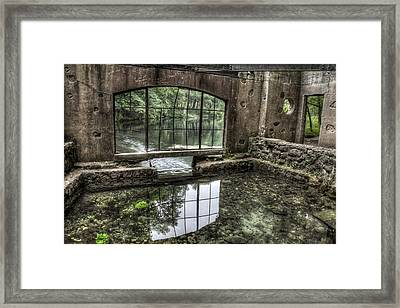 Looking Out 2 - Paradise Springs Spring House Interior  Framed Print by The  Vault - Jennifer Rondinelli Reilly
