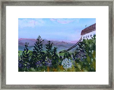 Looking Out From Top Of Jay Peak  Framed Print by Donna Walsh
