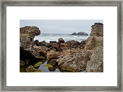 Looking Out On The Pacific Ocean From The Sutro Bath Ruins In San Francisco IIi Framed Print by Jim Fitzpatrick