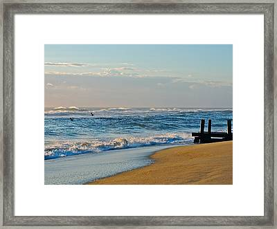 Looking Out To Sea Framed Print by Eve Spring