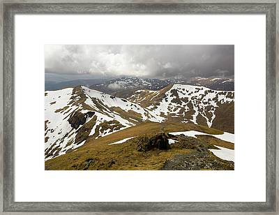 Looking Towards Beinn Ghlas Framed Print by Ashley Cooper