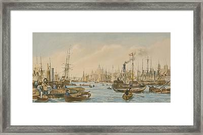 Looking Towards London Bridge Framed Print by William Parrot