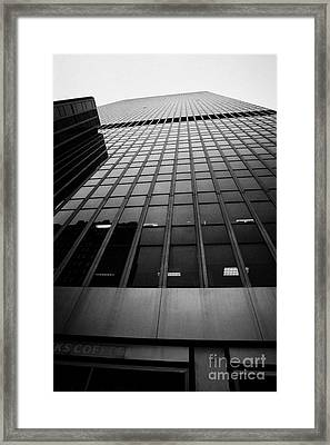 Looking Up At 1 Penn Plaza On 34th Street New York City Usa Framed Print by Joe Fox
