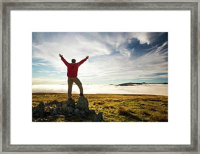 Looking West From Red Screes Framed Print by Ashley Cooper