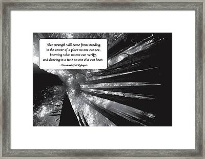Looking Within Framed Print by Mike Flynn