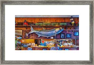 Loose Caboose Restaurant - Boca Grande Framed Print by Frank J Benz