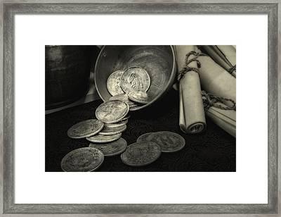 Loose Change Still Life Framed Print by Tom Mc Nemar