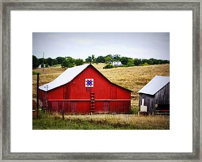 Loose Creek Quilt Barn Framed Print by Cricket Hackmann