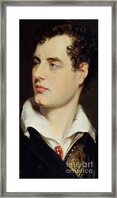 Lord Byron Framed Print by William Essex