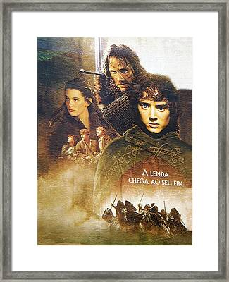 Lord Of The Rings Framed Print by Carlos Diaz