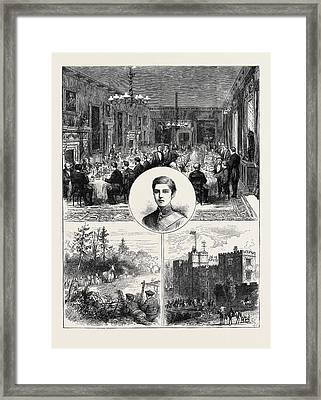 Lord Ossulstons Coming Of Age The Banquet Lord Ossulston Framed Print by English School