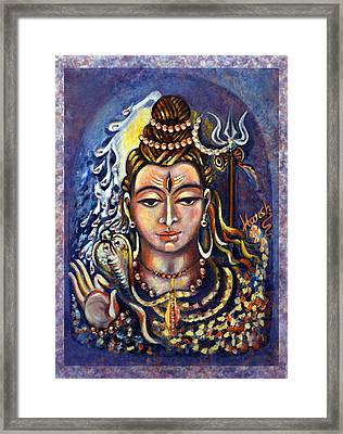 Lord Shiva Framed Print by Harsh Malik