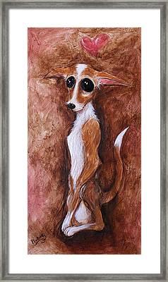 Loretta Chihuahua Big Eyes  Framed Print by Patricia Lintner