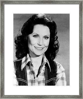 Loretta Lynn Smiling Framed Print by Retro Images Archive