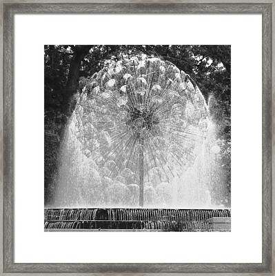 Loring Fountain Black-and-white Framed Print by Rashelle Brown