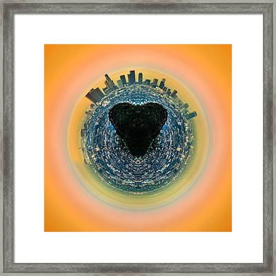 Love La Framed Print by Az Jackson