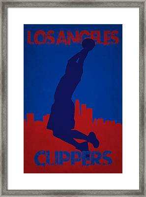 Los Angeles Clippers Blake Griffin Framed Print by Joe Hamilton