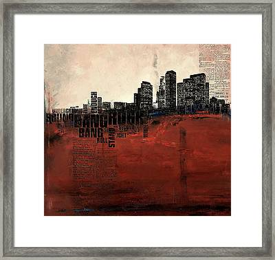 Los Angeles Collage 3 Alternative Framed Print by Corporate Art Task Force
