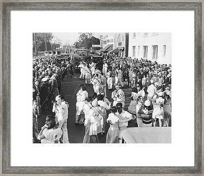Los Angeles Dance Marathon Framed Print by Underwood Archives