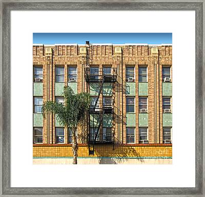 Los Angeles Facade Framed Print by Gregory Dyer