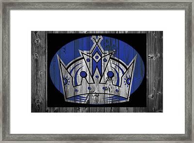 Los Angeles Kings Barn Door Framed Print by Dan Sproul