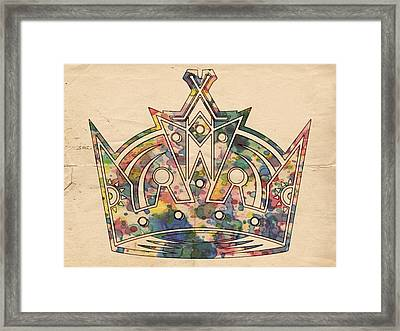 Los Angeles Kings Logo Poster Framed Print by Florian Rodarte
