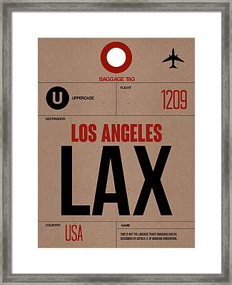 Los Angeles Luggage Poster 1 Framed Print by Naxart Studio