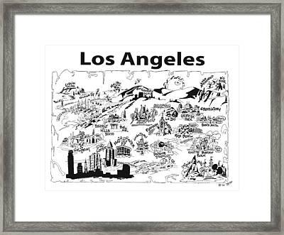 Los Angeles' Points If Interest Framed Print by Robert Tiritilli