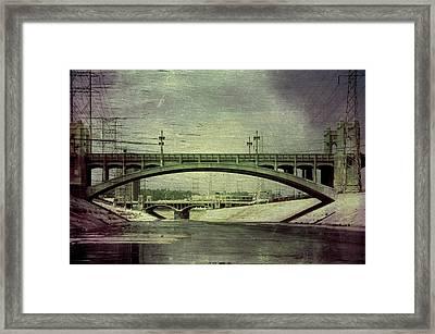 Los Angeles Sixth Street Bridge Framed Print by Sean Sepehr