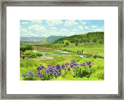 Los Penasquitos Looking East Framed Print by Mary Helmreich