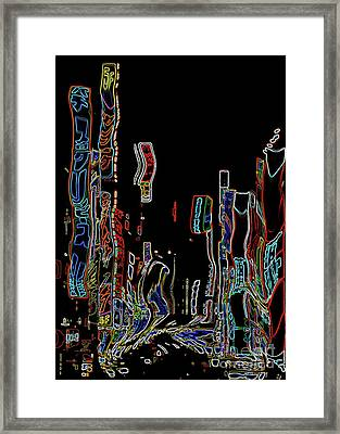 Losing Equilibrium - Abstract Art Framed Print by Carol Groenen