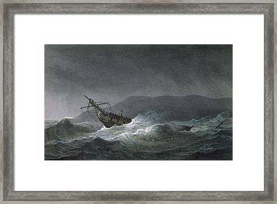 Loss Of The Blanche Framed Print by Thomas Whitcombe