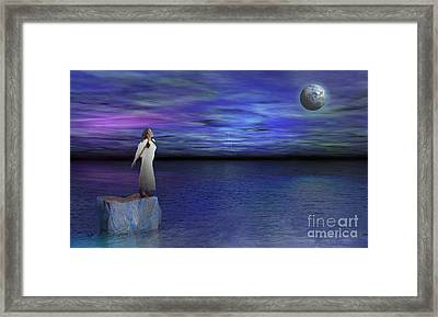 Lost Angel Framed Print by Bedros Awak