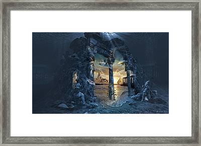 Lost City Of Atlantis Framed Print by George Grie