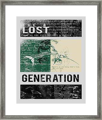 Lost Generation Writers Framed Print by Pop Culture Prophet