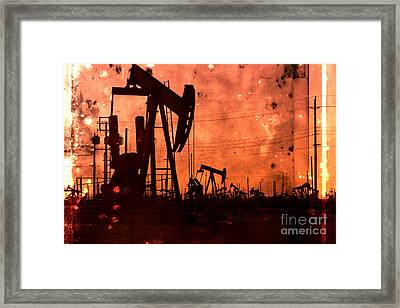 Lost Hills Oil Framed Print by Matt  Trimble