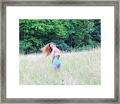 Lost In A Feild Framed Print by Amanda Just