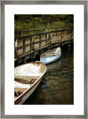 Lost Lake Boardwalk Framed Print by Michelle Calkins