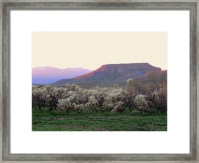 Lost Mesa Framed Print by Gordon Beck