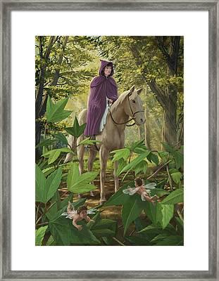 Lost Princess On Horseback Framed Print by Martin Davey