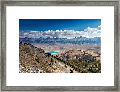 Lost River Mountain Range Framed Print by Robert Bales