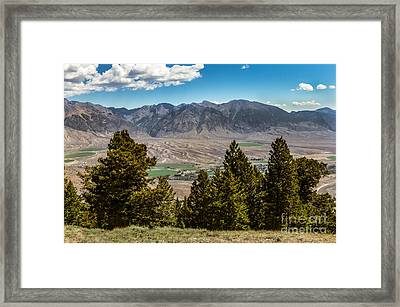 Lost River Mountains Framed Print by Robert Bales
